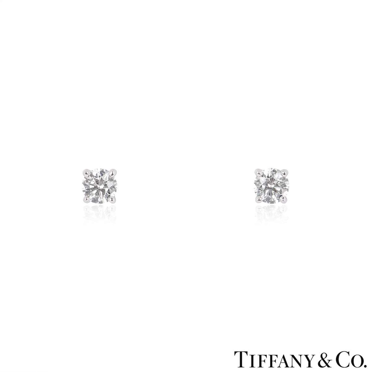 Tiffany & Co. Diamond Ear Studs 0.80ct TDW